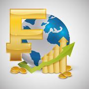 Global economy design. money icon. isolated illustration Stock Illustration
