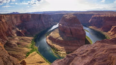 MoCo Tracking Time Lapse of Horseshoe Bend in Arizona -Zoom In- Stock Footage