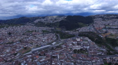 The Virgin against South Quito Stock Footage