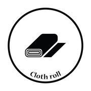 Tailor cloth roll icon - stock illustration