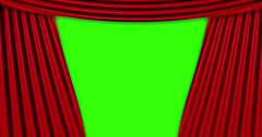 High quality animation perfectly red curtain opening movement background Stock Footage