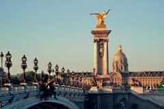 Alexandre III bridge - stock photo