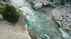 Aerial of beautiful stream Stock Footage