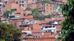 View of Medellin suburb Stock Footage
