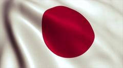 Japan flag loop video animation 4K - stock footage