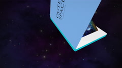 Popup book of outer space scenes Stock Footage