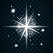 Shine star sparkle icon 16 - stock illustration