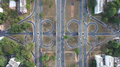 Aerial 4 leaf clover urban design Brasília - DF Stock Footage