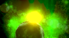 Deep space intergalactic background - stock footage