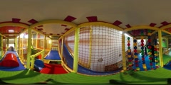 360Vr Video Happy Kids Running by Play Zone Children's Day Opole Play Room Kids Stock Footage