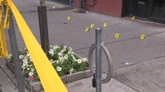 Toronto shooting murder crime scene two people dead - stock footage