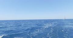 Herzliya, Israel. The white luxury yacht on the Mediterranean sea. Stock Footage