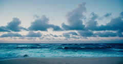 Beautiful Beach at Twilight Stock Footage