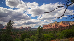 MoCo Time Lapse of Panoramic View from Hilltop in Sedona, Arizona -Zoom In- - stock footage