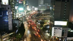 4K night timelapse of Dongdaemun district in Seoul, South Korea Stock Footage