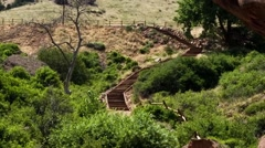 Scenic trail at Red Rocks Colorado - stock footage