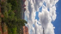 MoCo Time Lapse of Panoramic View from Hilltop in Sedona, Arizona -Vertical Shot - stock footage