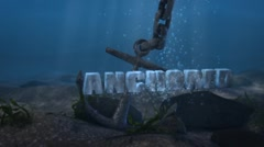 Anchored - Underwater Anchor LogoStinger Stock After Effects