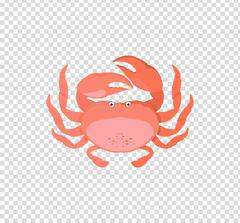 Funny Cartoon Crab - stock illustration