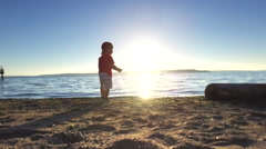 Child on the beach. Stock Footage