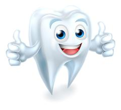 Tooth Dental Mascot Giving Thumbs Up - stock illustration
