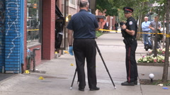 Toronto shooting murder crime scene two people dead Stock Footage