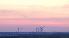 wind energy during sunset - stock footage