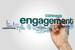 Engagement word cloud concept Stock Illustration