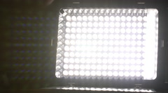 4K, LED Panel light turned on and off. Stock Footage