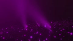 Abstract animation of moving violet glowing spheres and particles Stock Footage