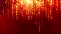 Star Streaks Falling from Heaven Motion Background Seamless Red Maroon Gold Stock Footage