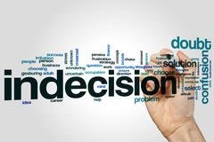Indecision word cloud concept Stock Illustration