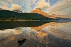 Waterfowl Lake sunrise - stock photo