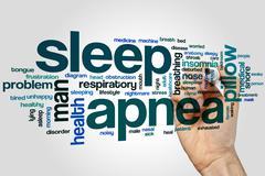 Sleep apnea word cloud Piirros