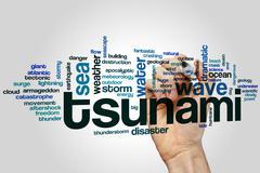Tsunami word cloud Piirros