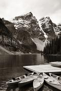 Moraine Lake Stock Photos