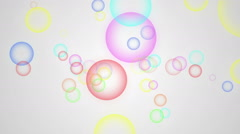 Animation of moving colorful bubbles on a white background - stock footage