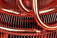 CPU cooler with heat pipes Stock Photos