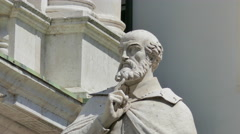 Vicenza - The Andrea Palladio statue - stock footage