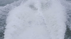 Speedy boat prop wash, white wake on the blue ocean sea. Stock Footage