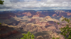 Time Lapse of Summer Storm at Grand Canyon National Park -Pan Right- Stock Footage