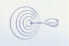 Business: define your target, reach the right market Stock Illustration