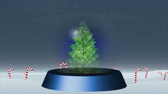 Christmas snow globe Stock Footage