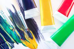 color acrilic paint - stock photo