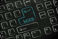 computer keyboard with special key: success - stock illustration