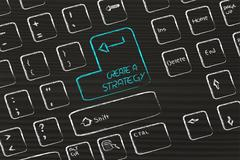 Computer keyboard with special key: create a strategy Stock Illustration