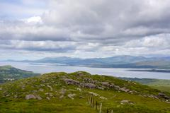 View from the kerry way in ireland Stock Photos