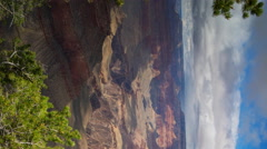 Time Lapse of Summer Storm at Grand Canyon National Park -Pan/Vertical- Stock Footage