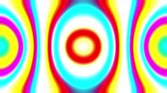 Flashing Psychedelic Retro 60s Kaleidoscope Lightshow VJ Motion Loop 4 Stock Footage