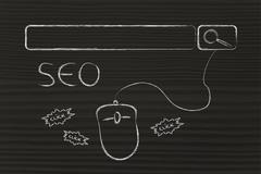 SEO, search engine optimization - stock illustration